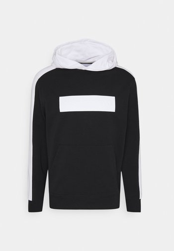 BLOCKING LOGO HOODIE UNISEX - Sweatshirt - black