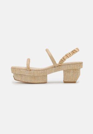 FIFI - Korkeakorkoiset sandaalit - natural