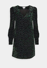 Milly - LYLAH LEOPARD DRESS - Cocktail dress / Party dress - black/green - 0