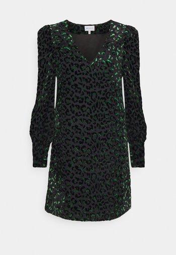 LYLAH LEOPARD DRESS - Koktejlové šaty/ šaty na párty - black/green