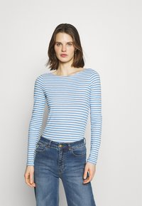 Marc O'Polo - LONG SLEEVE - T-shirt à manches longues - washed cornflower - 0
