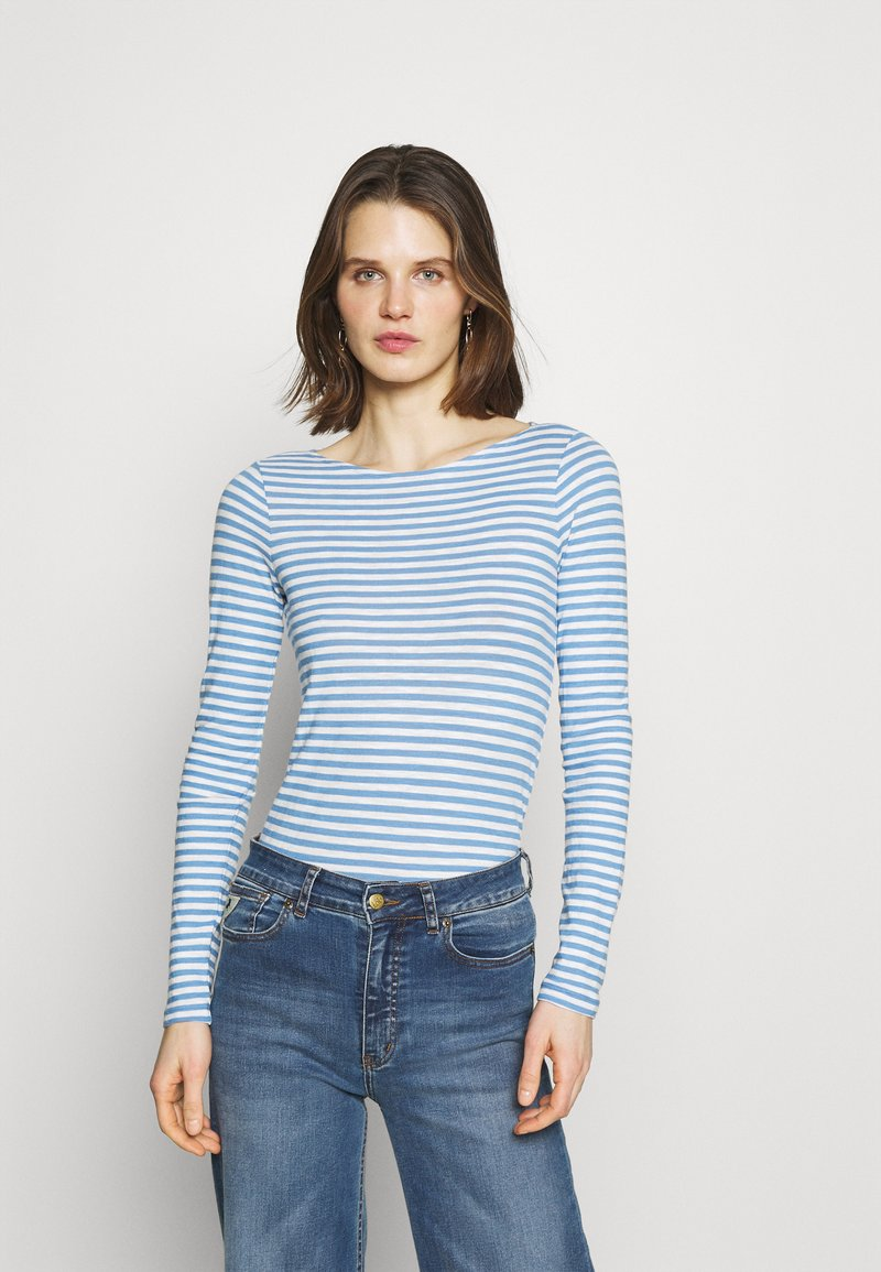 Marc O'Polo - LONG SLEEVE - T-shirt à manches longues - washed cornflower