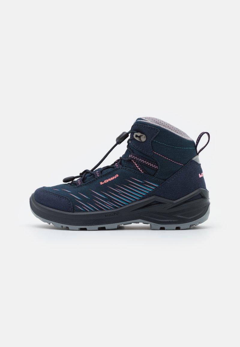 Lowa - ZIRROX GTX MID JUNIOR UNISEX - Hiking shoes - navy/rosé