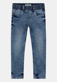 Lindex - MINI EDVIN PULL ON - Slim fit jeans - light denim - 0