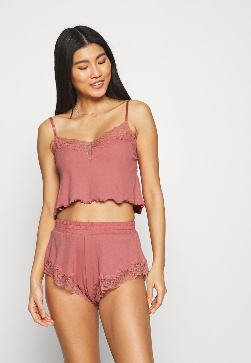 Hunkemöller - x NA-KD CAMI MIA - Pyjama top - dusty pink