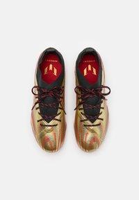 adidas Performance - NEMEZIZ MESSI .1 FG UNISEX - Moulded stud football boots - gold metallic/scarlet/core black - 3
