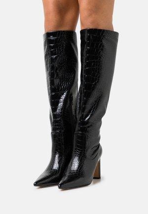 POINTY LOOSE SHAFT BOOTS - Laarzen met hoge hak - black