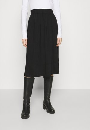 KIA MIDI - A-line skirt - black