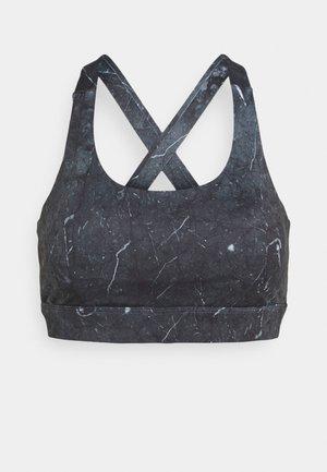 SOUL STONE CROP - Sports bra - black