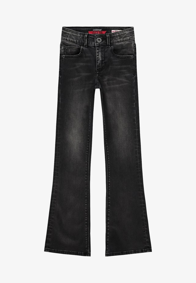 Flared Jeans - black vintage