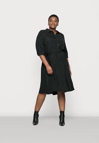 Vero Moda Curve - VMCARA CALF SHIRT DRESS - Day dress - black - 0