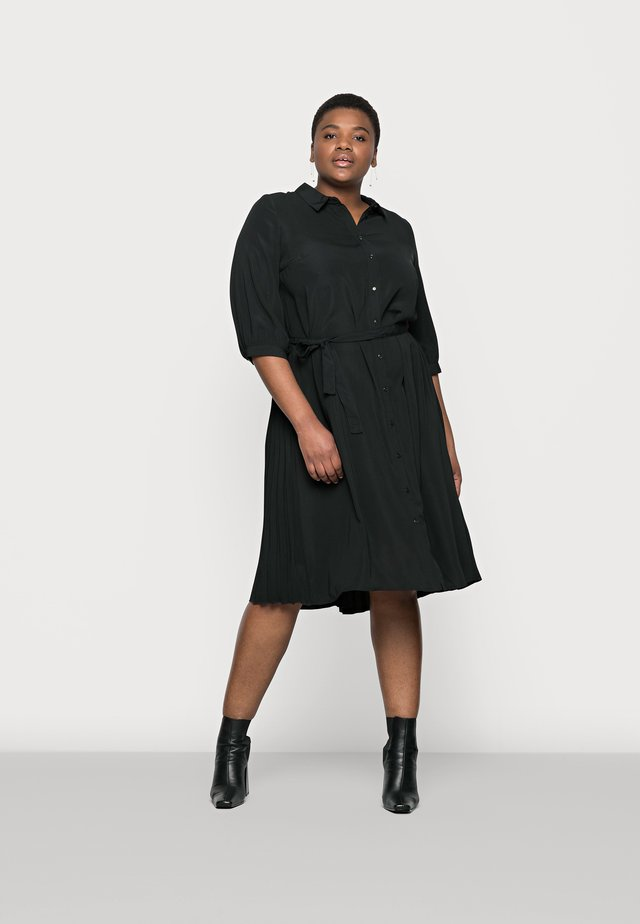 VMCARA CALF SHIRT DRESS - Denní šaty - black