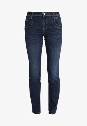 ALEXA - Straight leg jeans - dark stone denim blue
