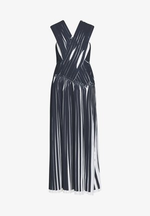 KNIFE PLEATED CROSSOVER DRESS - Maxi šaty - black/white