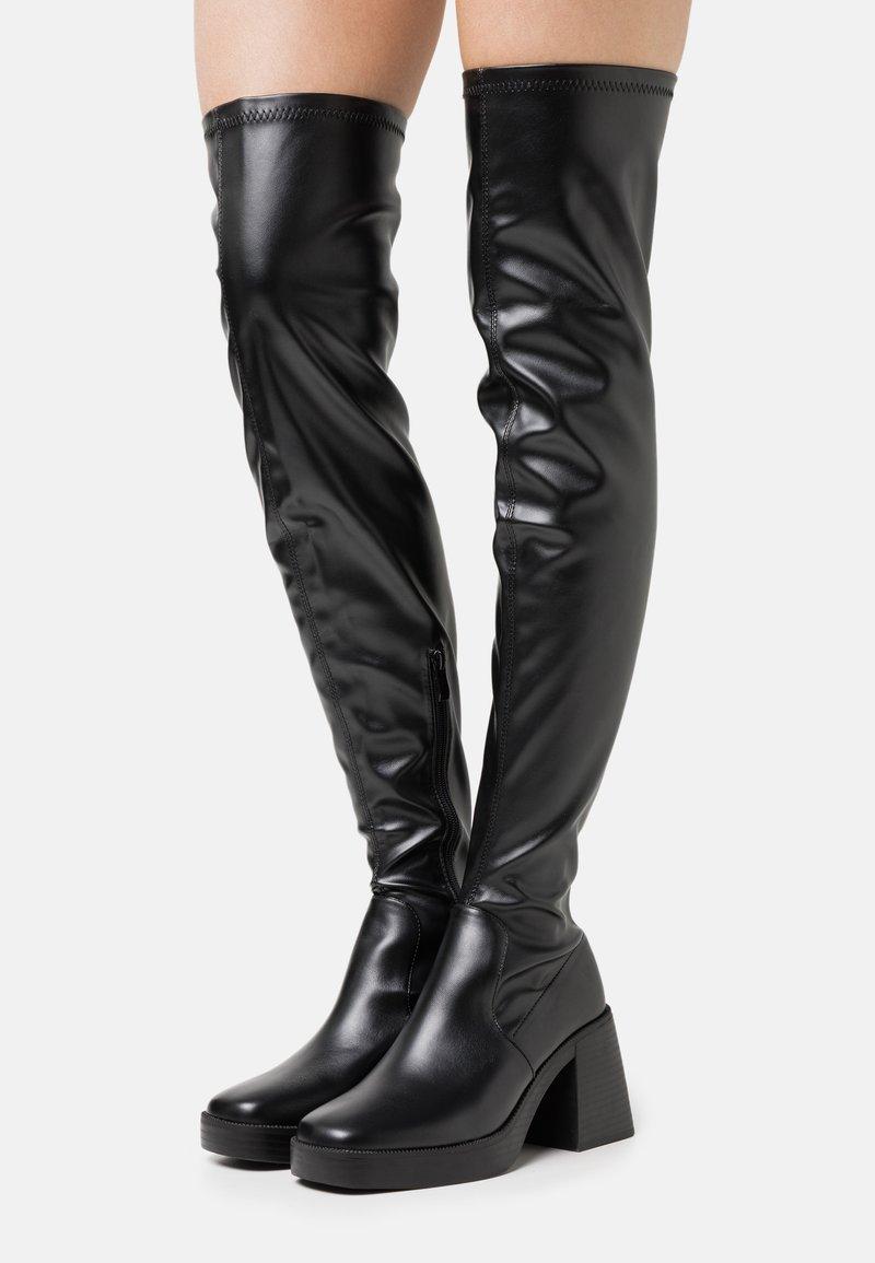 RAID Wide Fit - JOYEN - Kozačky na vysokém podpatku - black