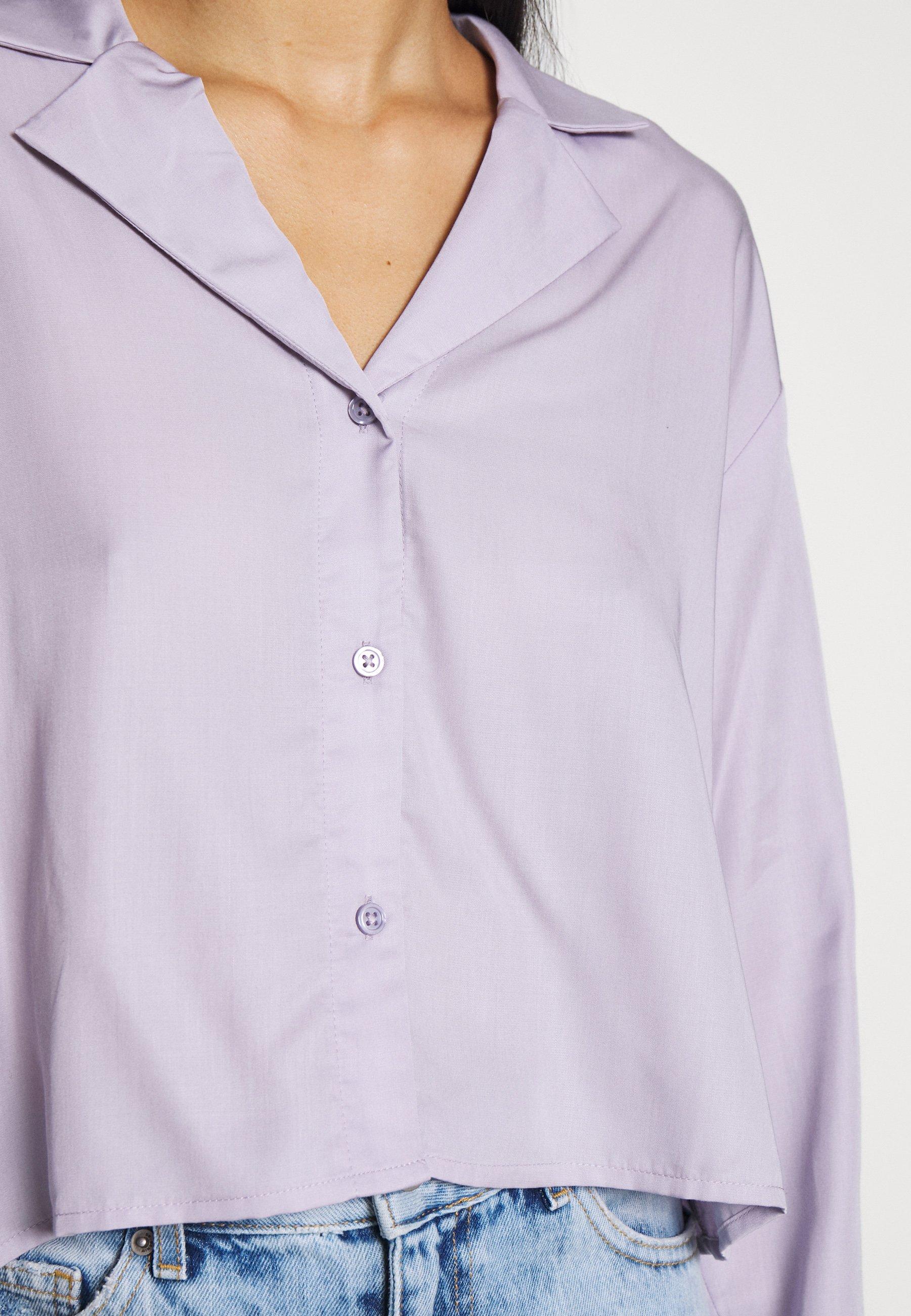 Weekday FILIPPA BLOUSE - Overhemdblouse - dusty purple - Dameskleding Klassiek