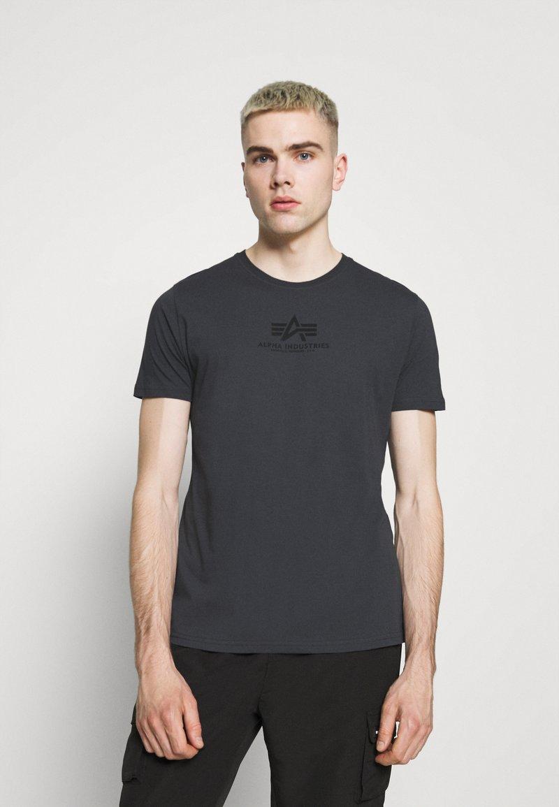 Alpha Industries - BASIC - Print T-shirt - greyblack