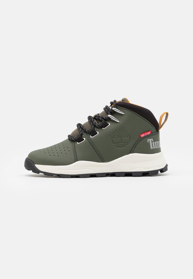 BROOKLYN - Lace-up ankle boots - dark green