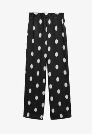 ESTAMPADO - Trousers - black