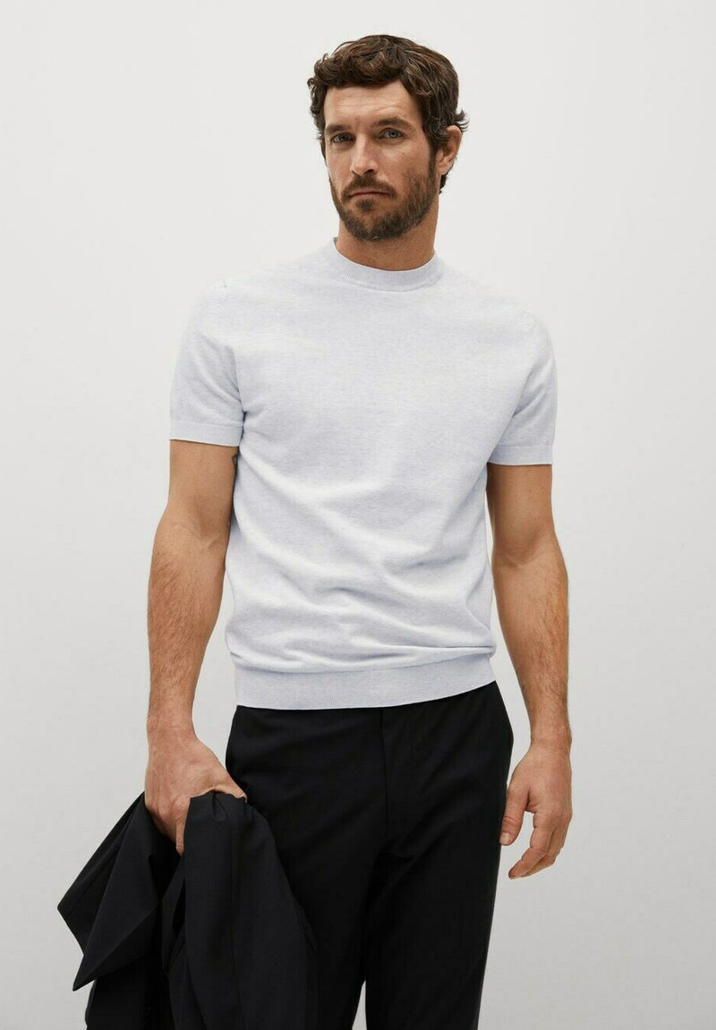 Mango - TECHNOC - T-shirt basic - lichtgrijs