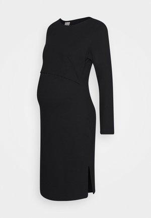 INEZ DRESS - Vestito di maglina - black
