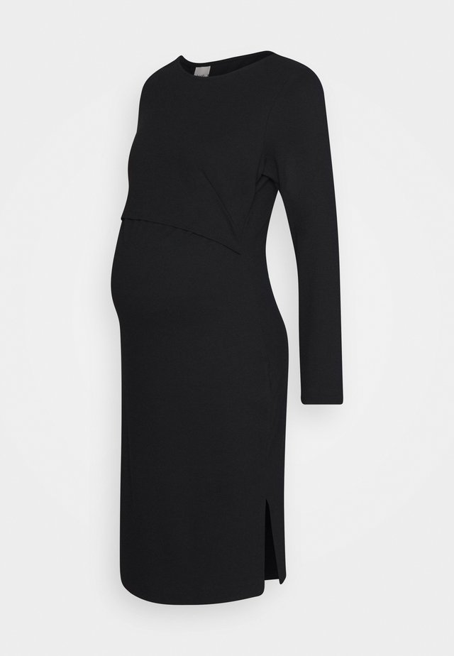 INEZ DRESS - Trikoomekko - black