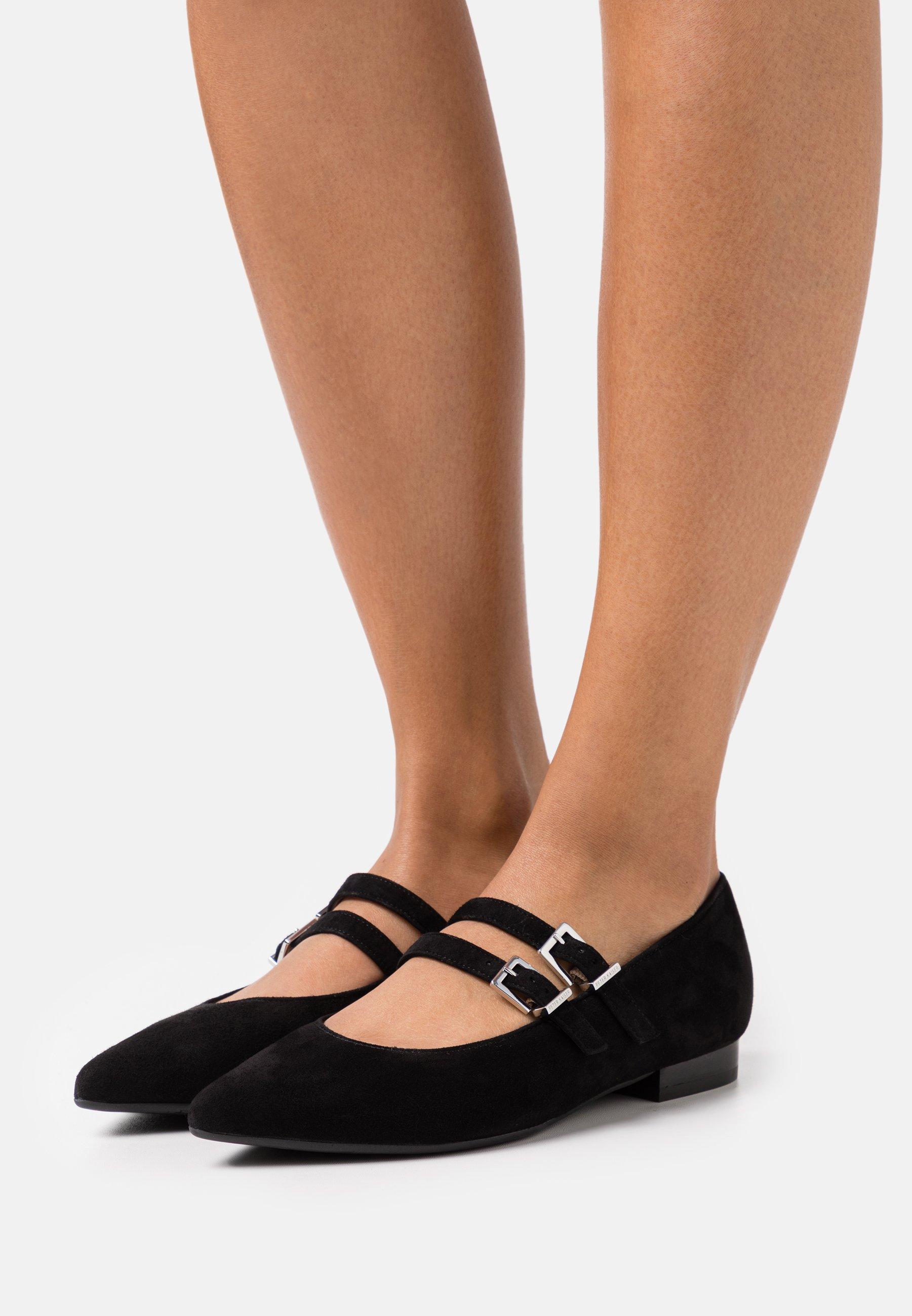 Women TACOMA - Ankle strap ballet pumps - schwarz