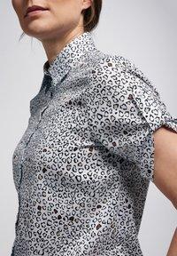 Eterna - Button-down blouse - weiss/braun - 2