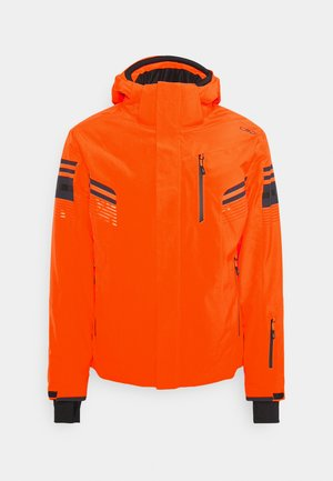 MAN JACKET ZIP HOOD - Kurtka narciarska - orange fluor