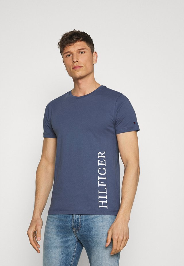 SMALL LOGO TEE - T-shirt con stampa - blue