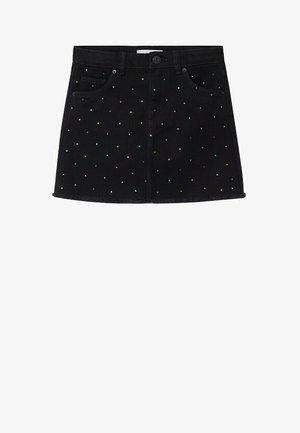 SHINE - Denim skirt - black denim