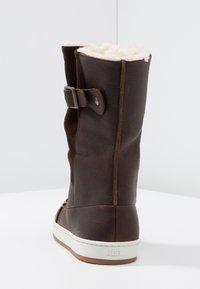 HUB - Śniegowce - dark brown/off white/dark gum - 5