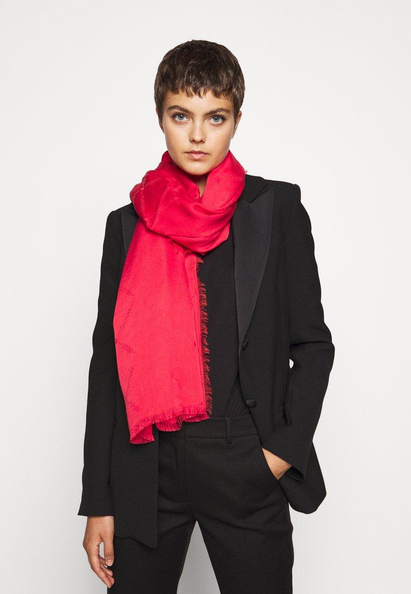 HUGO - LOGO WRAP - Šátek - red