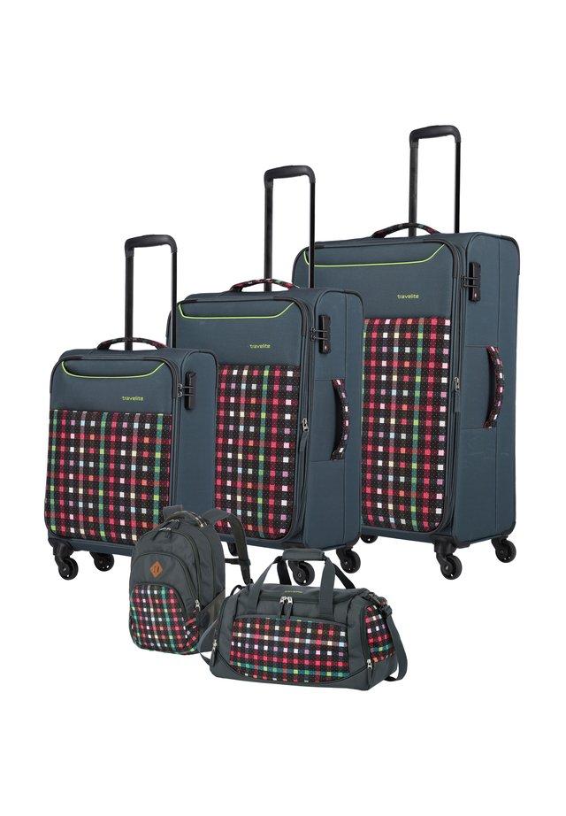 ARGON 4-ROLLEN KOFFERSET 5TLG. - Wheeled suitcase - red