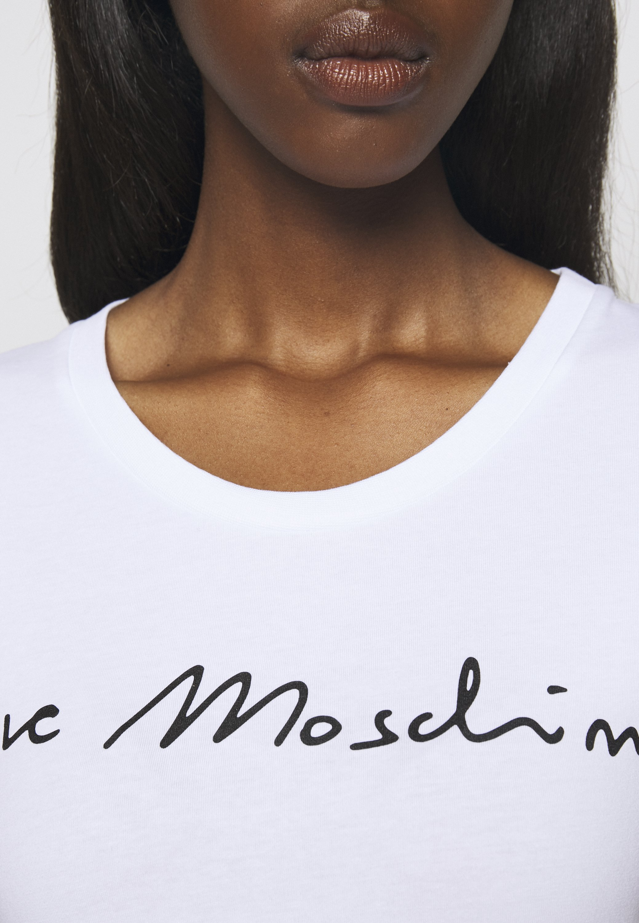 Love Moschino T-shirts Med Print - Optical White/hvit