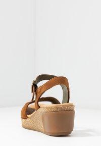 El Naturalista - LEAVES - Platform sandals - wood - 5