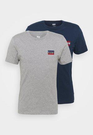 CREWNECK GRAPHIC 2 PACK - Print T-shirt - dress blues