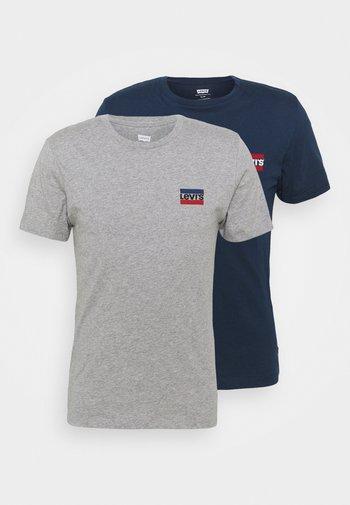 CREWNECK GRAPHIC 2 PACK - T-shirt med print - dress blues