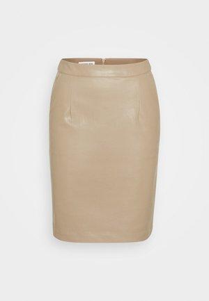 MARIE - Pencil skirt - sand