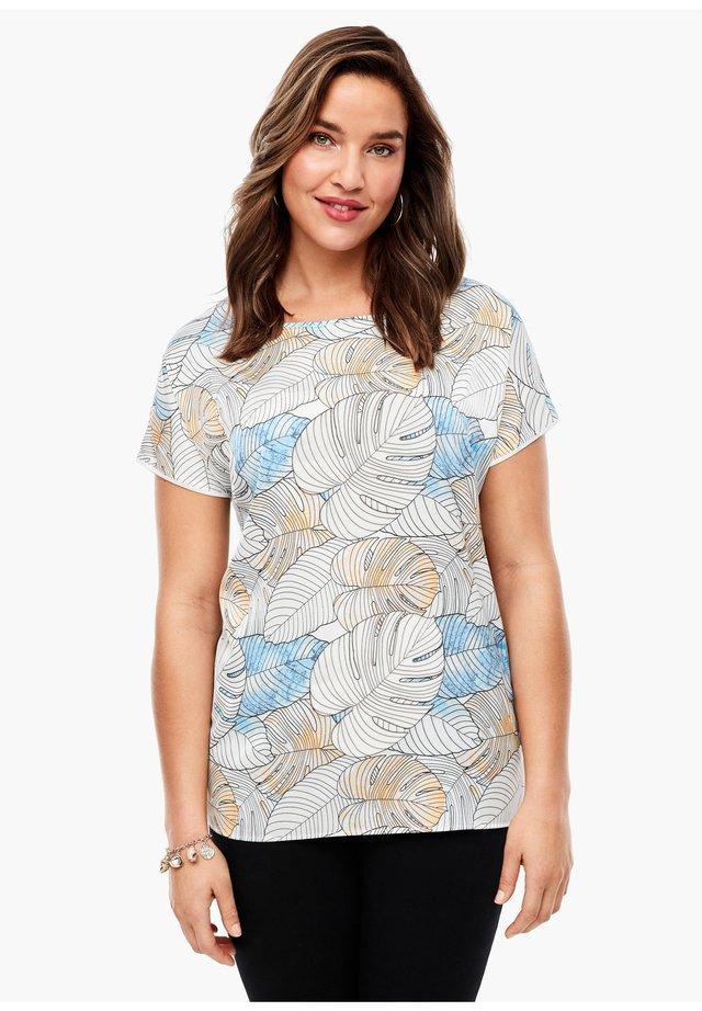 T-shirt print - white aop