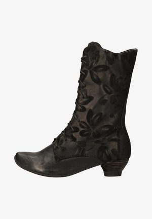 Lace-up boots - sz/kombi