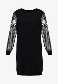 ONLY - ONLVIKTORIA DRESS - Vestido de punto - black - 5