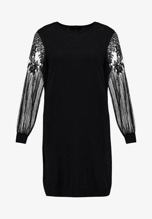 ONLVIKTORIA DRESS - Pletené šaty - black