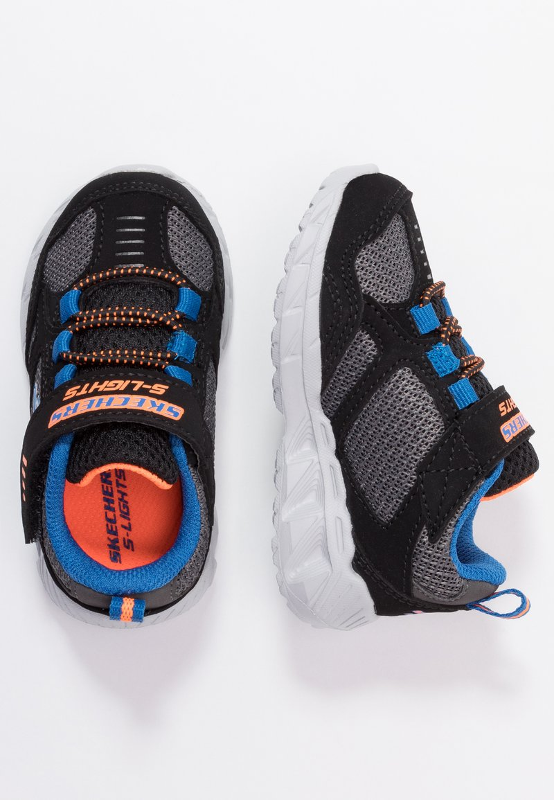 Skechers - MAGNA LIGHTS - Trainers - black/gray/orange/blue