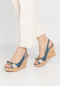 Laura Biagiotti - High heeled sandals - blue - 0