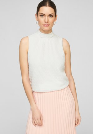MIT STEHKRAGEN - Blouse - soft white