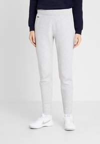 Lacoste Sport - PREMIUM PANT - Tracksuit bottoms - silver chine/navy blue/white - 0