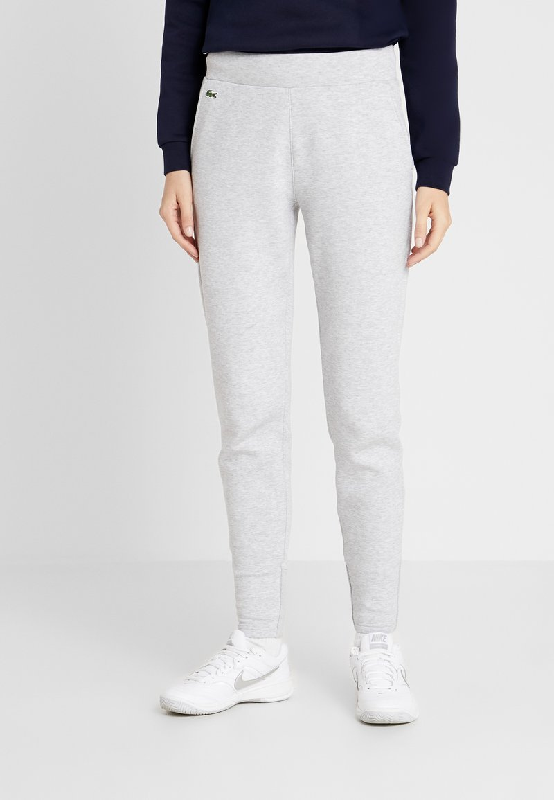 Lacoste Sport - PREMIUM PANT - Tracksuit bottoms - silver chine/navy blue/white