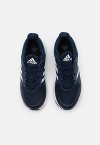 adidas Performance - FORTAFAITO UNISEX - Neutral running shoes - collegiate navy/footwear white/signal cyan - 3