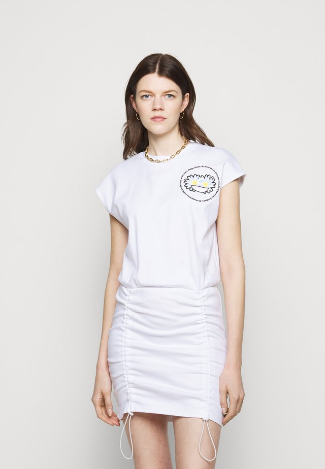 COULISSE DRESS - Jerseyjurk - white